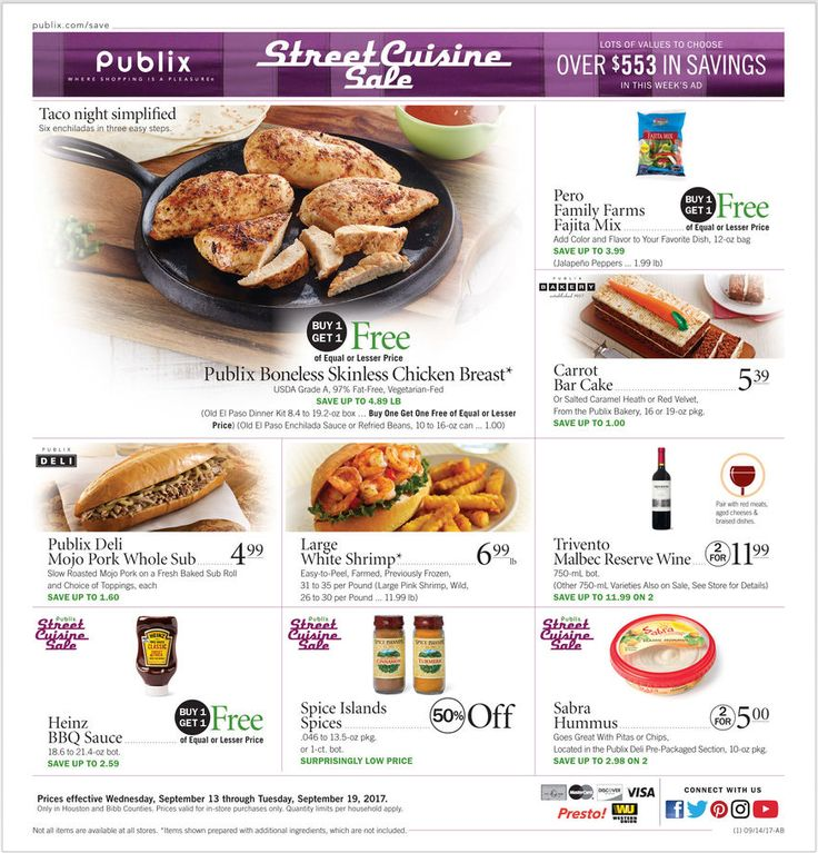 Publix Weekly Ad September 13 - 19, 2017 - http://www.olcatalog.com/grocery/publix-weekly-ad.html