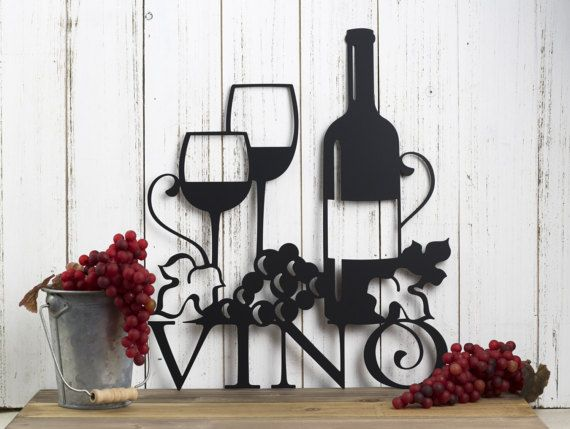 Wine Decor Wall Art 55 best wall art images on pinterest | metal walls, matte black