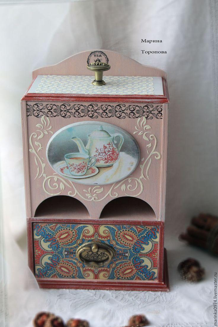 """Купить Буфет-комод-домик для чая """" Время пить чай"""" - комбинированный, буфет"""