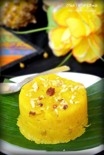 PINEAPPLE KESARI RECIPE / PINEAPPLE KESARI BATH / PINEAPPLE SOOJI HALWA | Cook With Smile