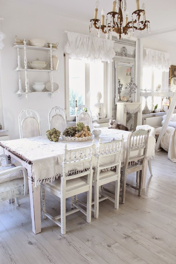heavens ros cottage dreamy white dining area dining room pinterest shabby chic heavens. Black Bedroom Furniture Sets. Home Design Ideas