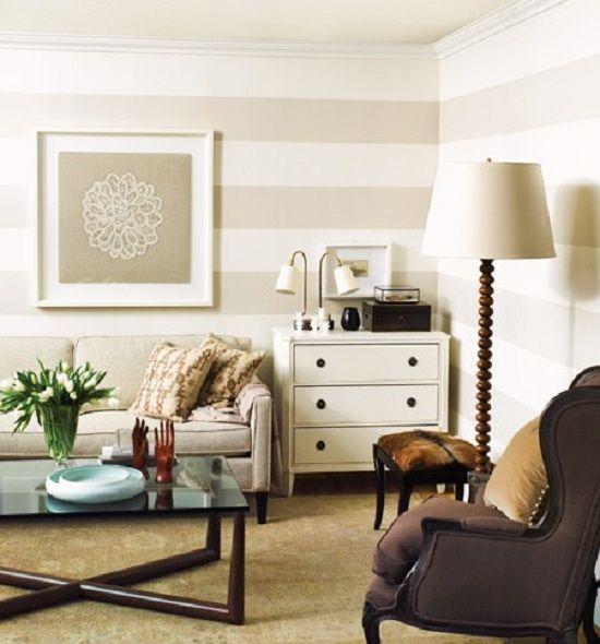 comedor dormitorio papel pintado rayas colores blanco hogar salas de estar de color beige paredes del saln