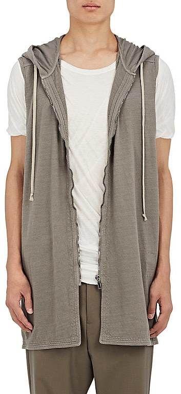 Rick Owens Men's Slub-Knit Cotton Sleeveless Hoodie