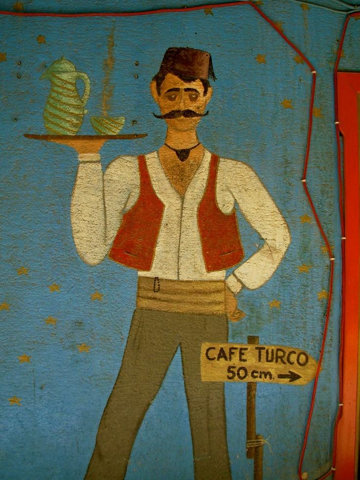 Istanbul: Café Turco wall sign
