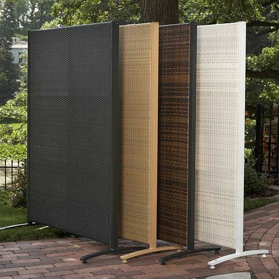 Add privacy outdoors with easy up screens curtains more for Temporary privacy screen