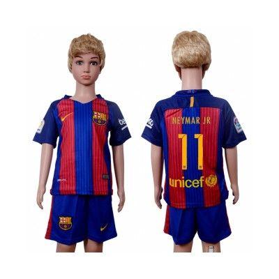 Barcelona Fodboldtøj Børn 16-17 Neymar Jr 11 Hjemmebanetrøje Kortærmet.  http://www.fodboldsports.com/barcelona-fodboldtoj-born-16-17-neymar-jr-11-hjemmebanetroje-kortermet.  #fodboldtrøjer