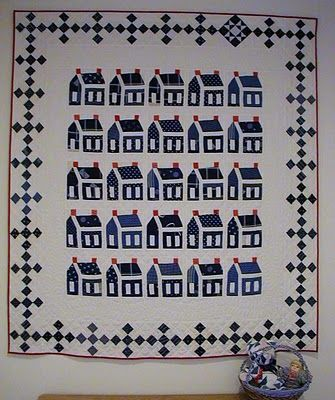 """Love the Nine-Patch border and the substituted star at the top right. """"Welcome Home"""""""