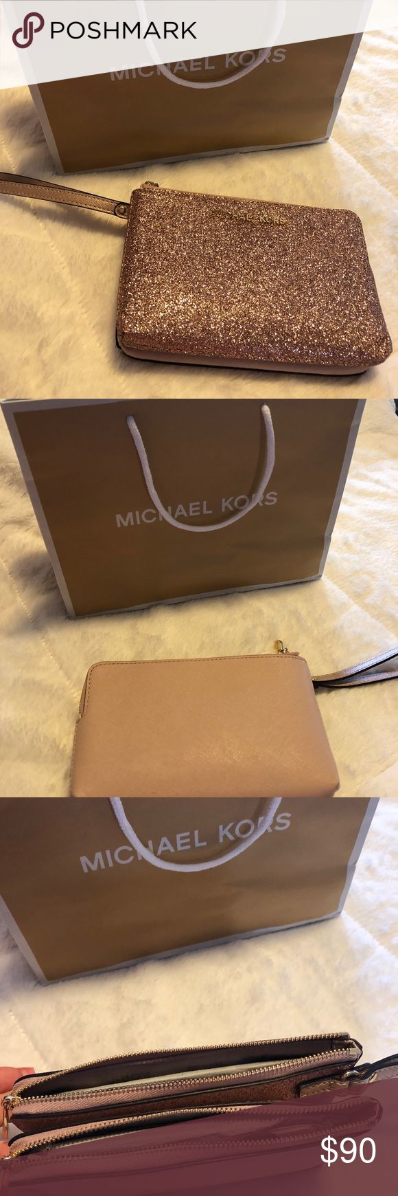 Michael Kors Double Wristlet Wallet Brand new, never used! Michael Kors Bags Clutches & Wristlets