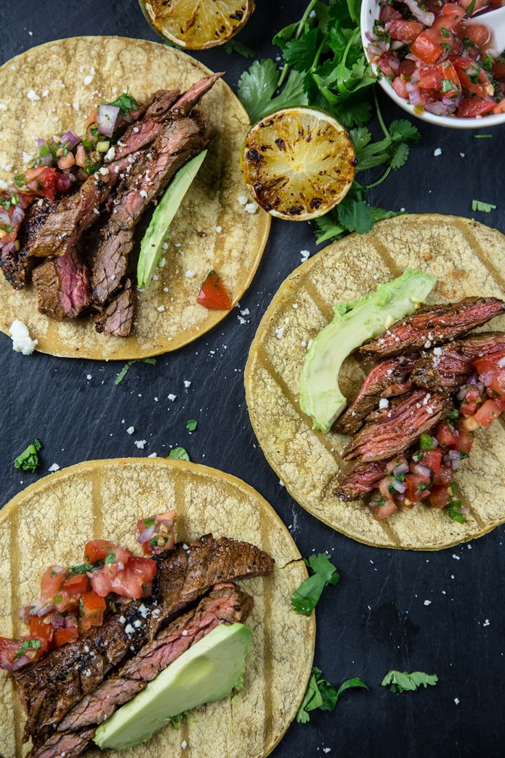 The ultimate Carne Asada made with marinaded skirt steak, then grilled hot and fast and sliced thin for the ultimate Taco Night meal.
