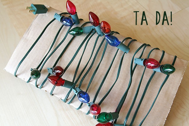 DIY - Christmas Light Storage
