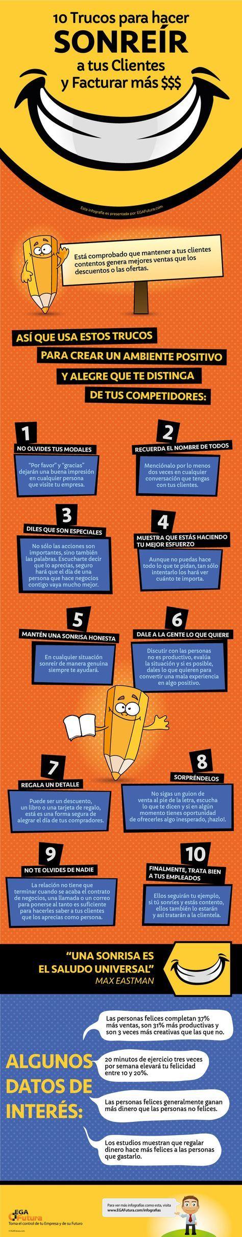 10 Trucos (reales) para hacer Sonreír a tus Clientes y Facturar más $$$ » EGA Futura www.rubendelaosa.com