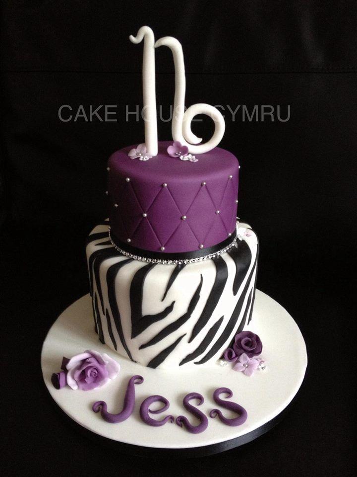16th Birthday Cake Purple Amp Zebra Print Cake Crazy