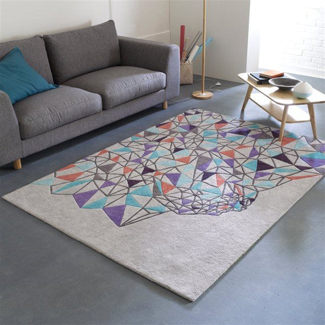 tapis coton tuft design dan yeffet pour gallery bensimon bensimon geometrique with tapis rond la. Black Bedroom Furniture Sets. Home Design Ideas