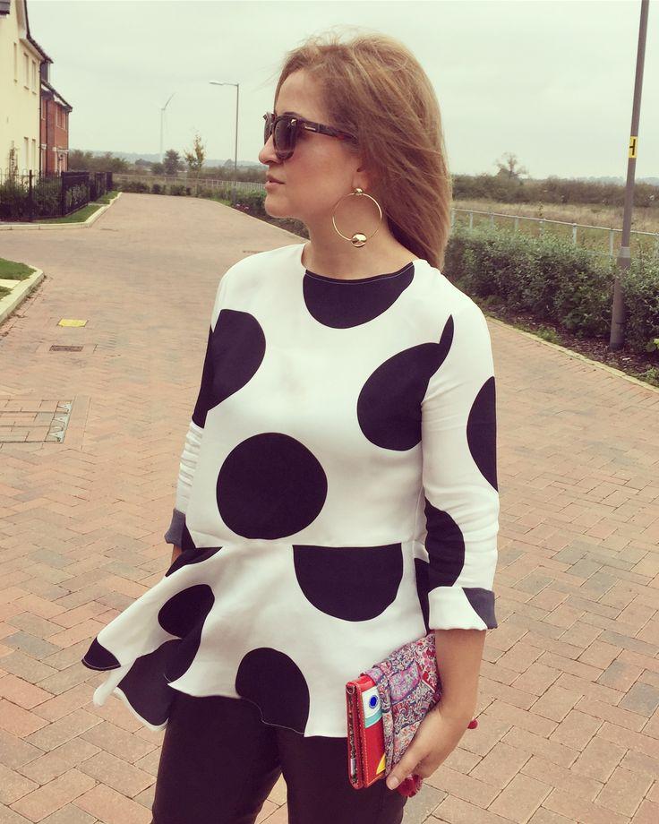 Polka dots and hoops, fall fashion
