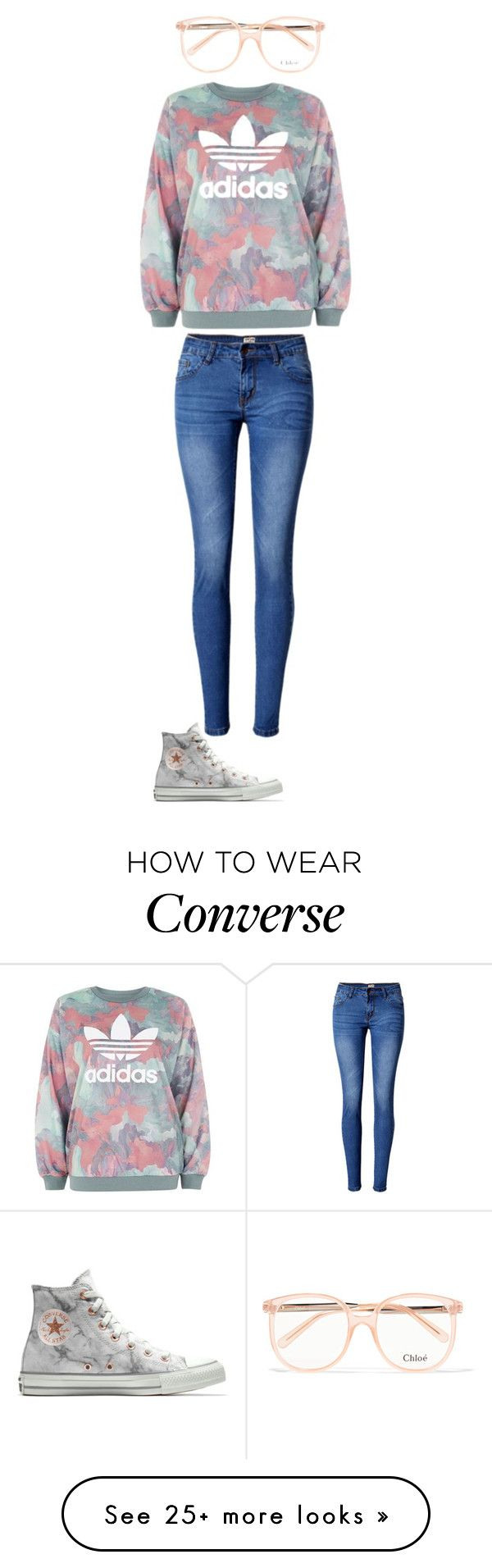 """Unbenannt #326"" by kitty-lm on Polyvore featuring adidas, Chloé, WithChic and Converse"