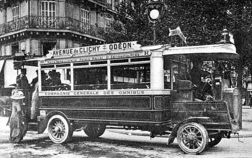 les autobus dans les années 1900