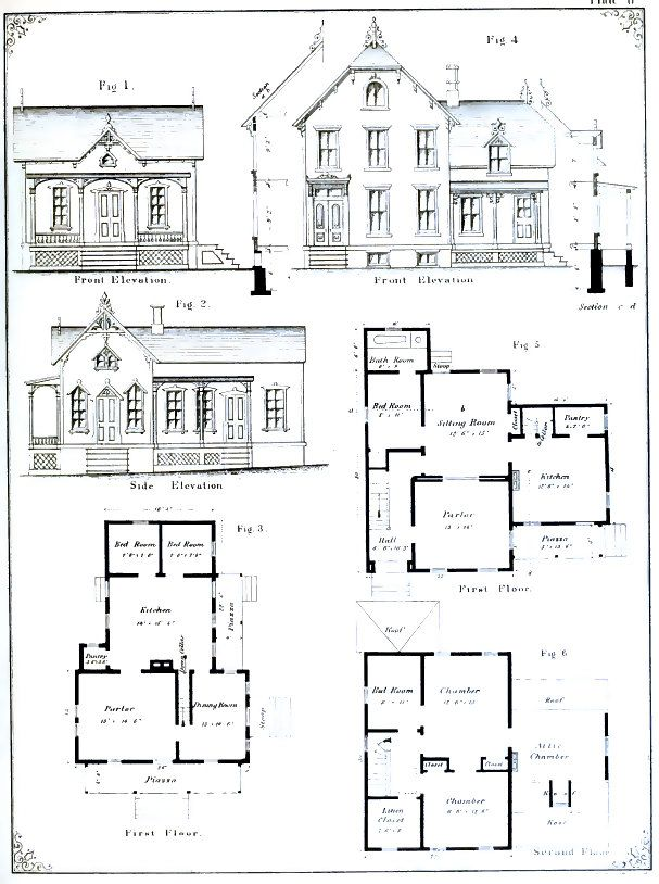 VICTORIAN ARCHITECTURAL PLANS 55 Elevations and Plans for