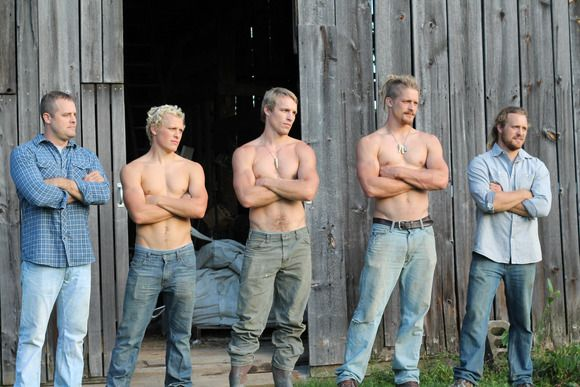 Joe, Sam, Dan, Pete & Tim King, Joe, Sam, Dan, Pete and Tim King (L to R), as seen on Season 3 of Great American Country's Farm Kings., Seas...