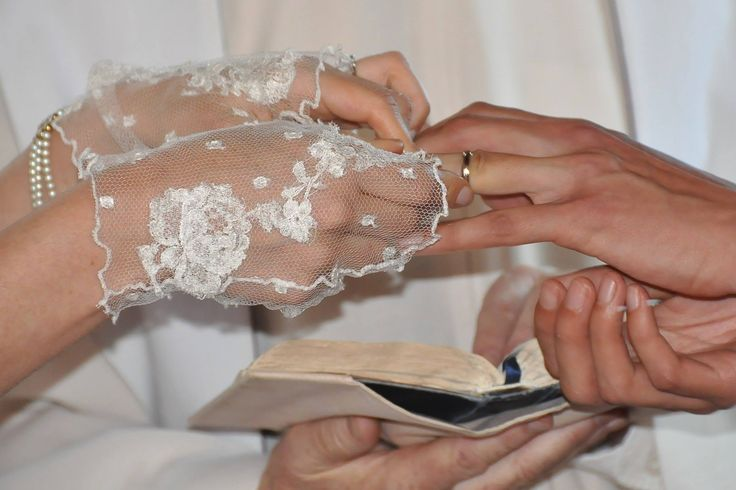 #lace wedding #gloves made from my dress's leftover lace