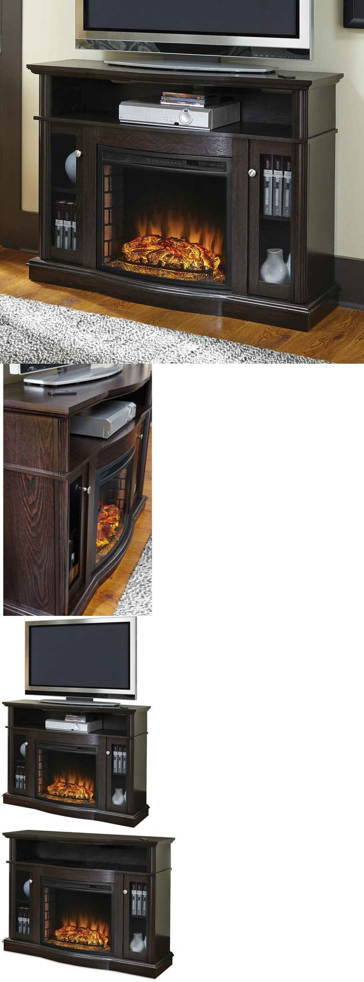 Fireplaces 175756: Electric Fireplace Tv Stand Media Console Heater Entertainment Center Wood New -> BUY IT NOW ONLY: $324.99 on eBay!