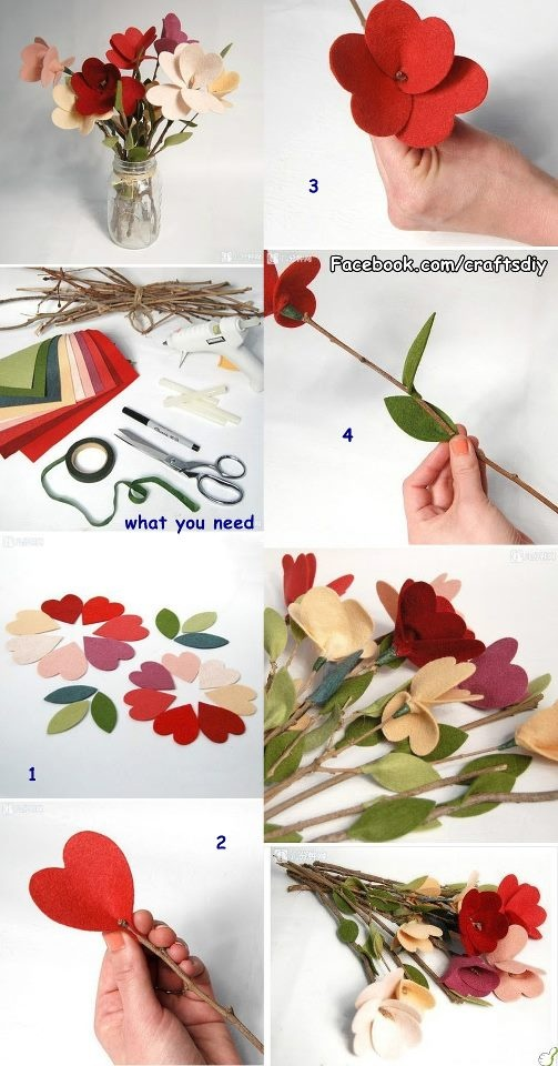 Diy Craft Projects Felt Flowers