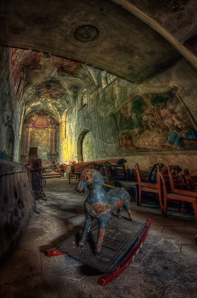 abandoned....... haunted....  . chapel in Poland.