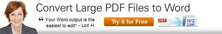 Convert Large PDF Files to Word