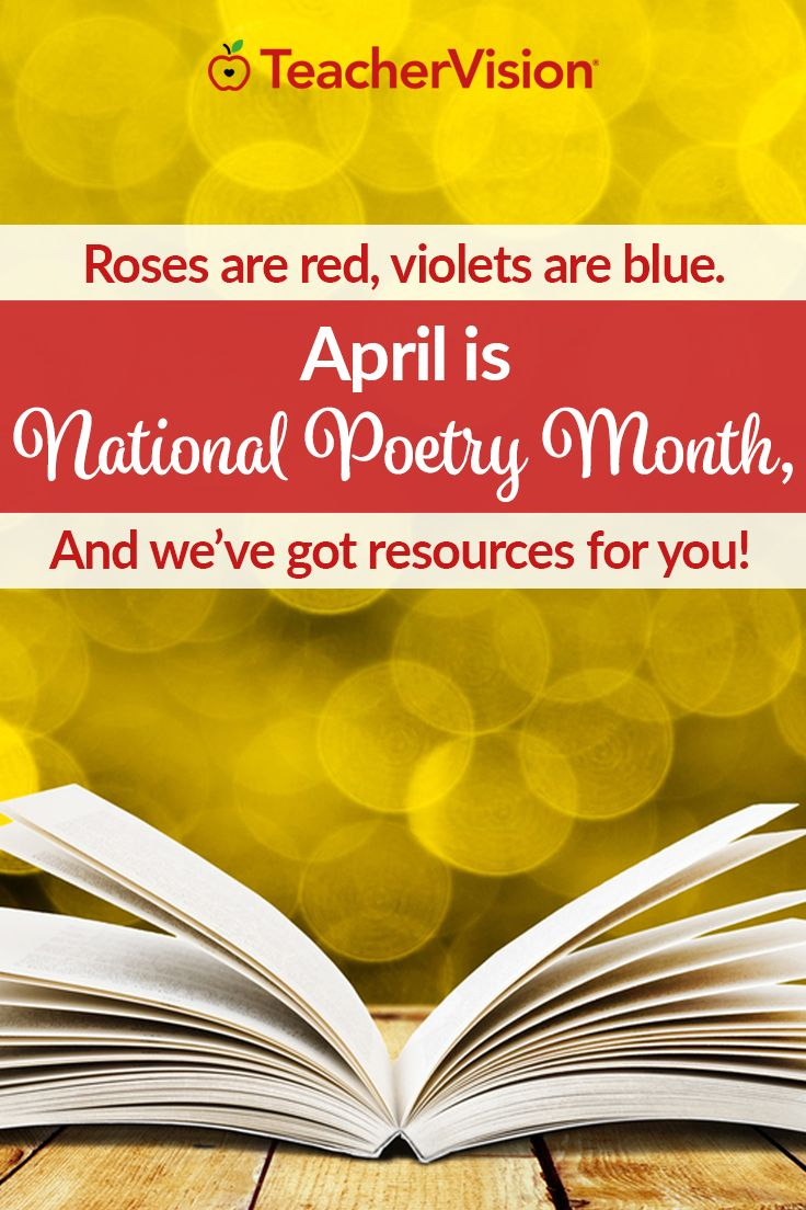 April is National Poetry Month, so introduce your students to the wonderful world of poetry using our resources! These materials cover important poetry terms, help with structure and formatting, holiday-themed activities, form poetry, literal and figurative language, sensory imagery, rhyming and free verse, and much more. Whether your students are reading or writing it, poetry will enrich your classroom experience. (Grades K-12)