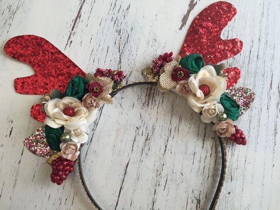 Reindeer Headband-Christmas Headband Baby by AvryCoutureCreations