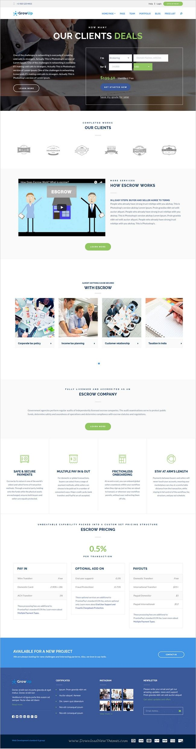GrowUp is a modern #design 6in1 professional #WordPress theme for #escrow #business and financial websites download now➩ https://themeforest.net/item/growup-business-financial-wordpress-theme/18761663?ref=Datasata