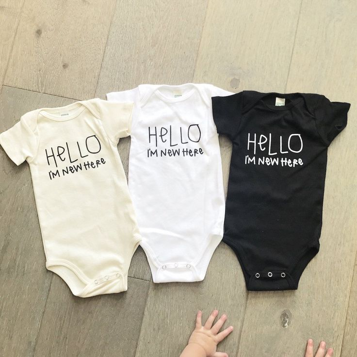 hello im new here hello world quote onesie onsie onzie bodysuit, newborn baby boy baby girl, black white cream gender neutral unisex baby clothes, modern trendy hipster kids fashion | baby shower gift | mom to be, layette