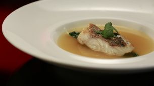 Pink Snapper with Tomato & Lemongrass Broth