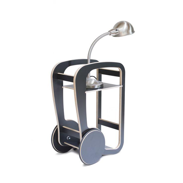 fleimio mini trolley with a lamp.