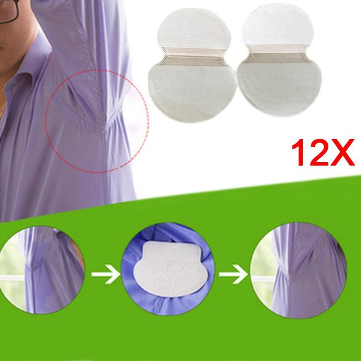 12 Pairs Disposable Underarm Sweat Pads Guard Armpit Sheet Liner Antiperspirant Tape Stickers Deodorant Pad Dress Shield FM88