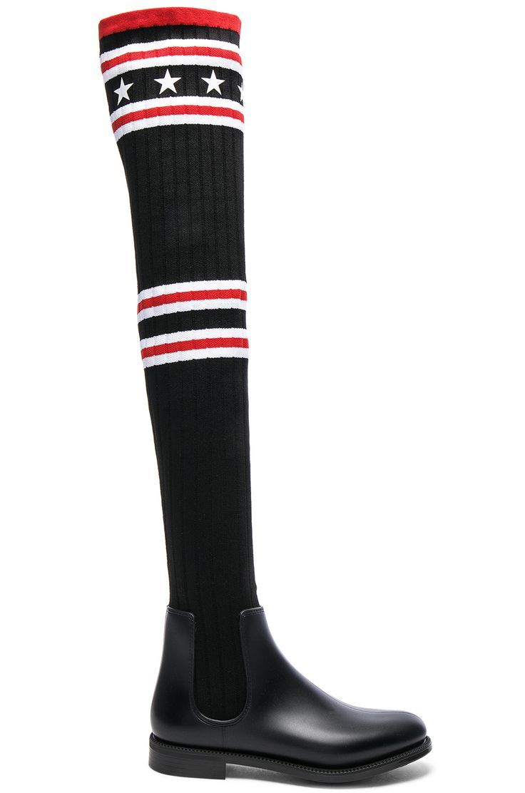 Givenchy Rib Knit Over The Knee Sock Boots
