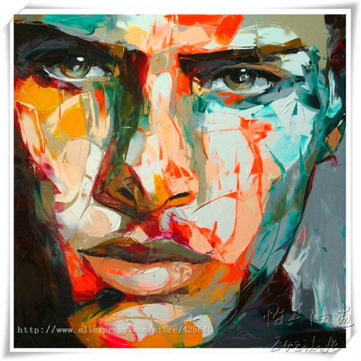 Aliexpress.com : Buy Palette knife painting portrait Palette knife Face Oil painting Impasto figure on canvas Hand painted Francoise Nielly Cool Face from Reliable painting art children suppliers on Eazilife Oil Painting  | Alibaba Group