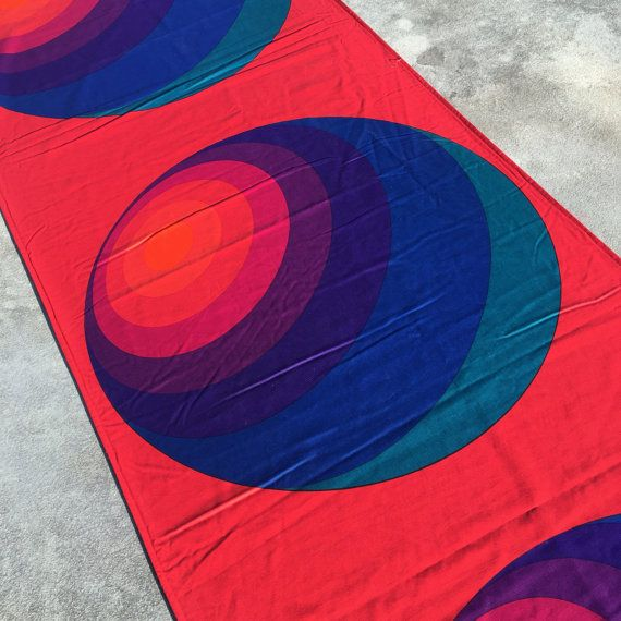 Verner Panton 'LUNA' - Multicolor cotton - Mira-X - Huge lenght!