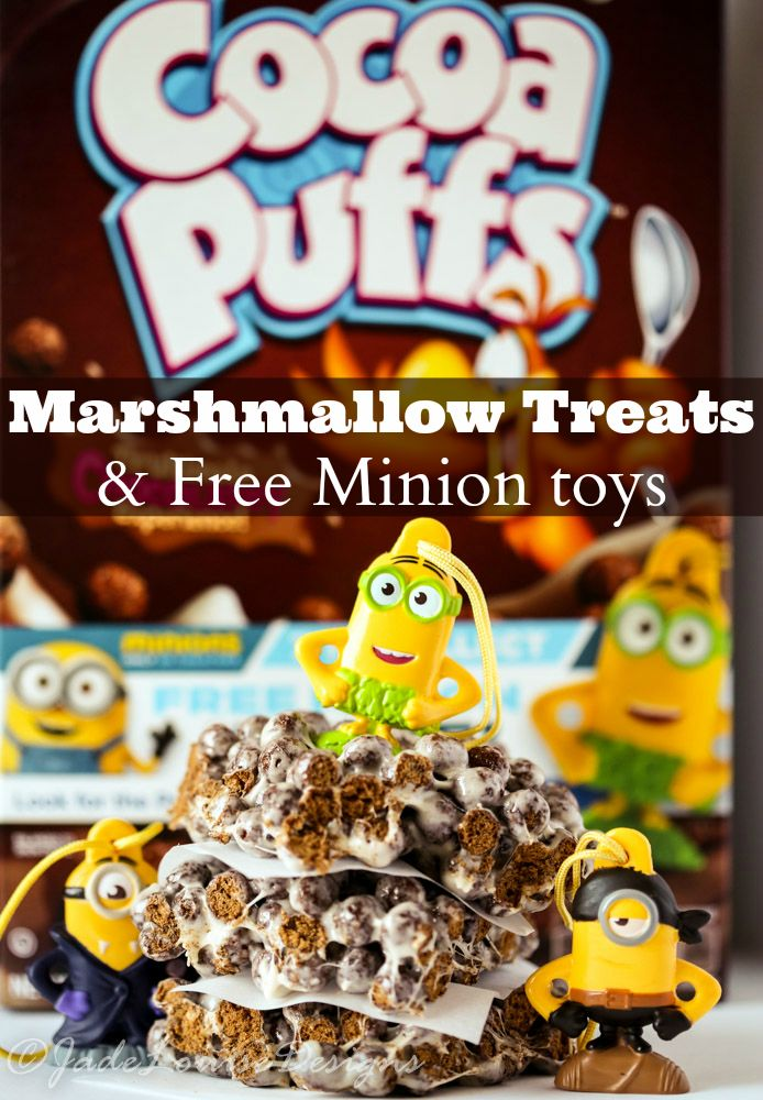 Minion Cocoa Puffs Marshmallow Treats recipe plus Free Toy Inside! #The7thMinion AD