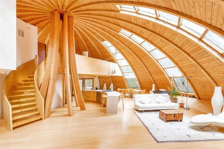 The eco-friendly house with a dome rotated by a remote control using passive solar energy