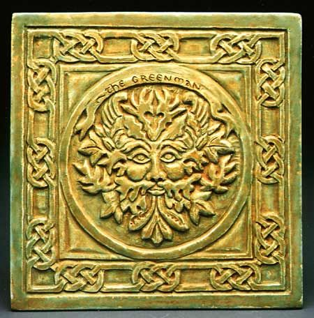 Greenman Wall Plaque - The Greenman is the Celtic God of the Woodlands. He takes care of the green and growing things and protects the forest creatures.