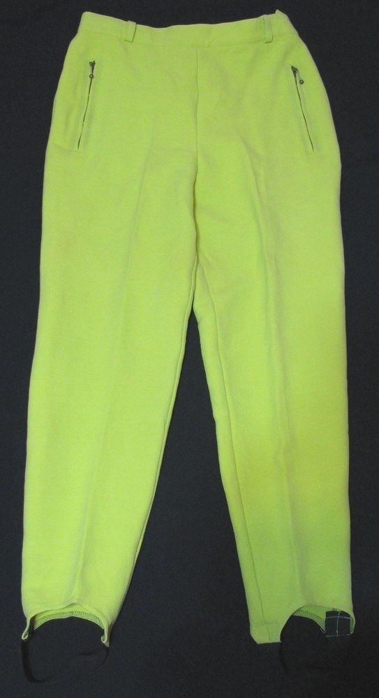 ESCADA Green Stirrups Pants Women Wool Blend 36 US 2 - 4P Sport Ski Trouser #ESCADA #CasualPantsLeggingsTights