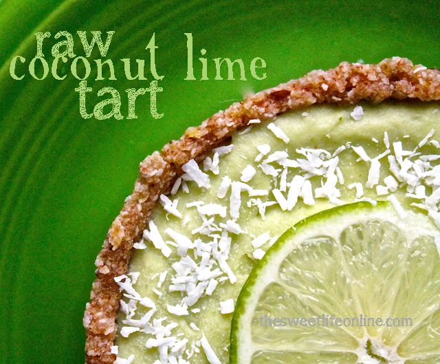 Bright done right: this near-neon Raw Coconut Lime Tart.