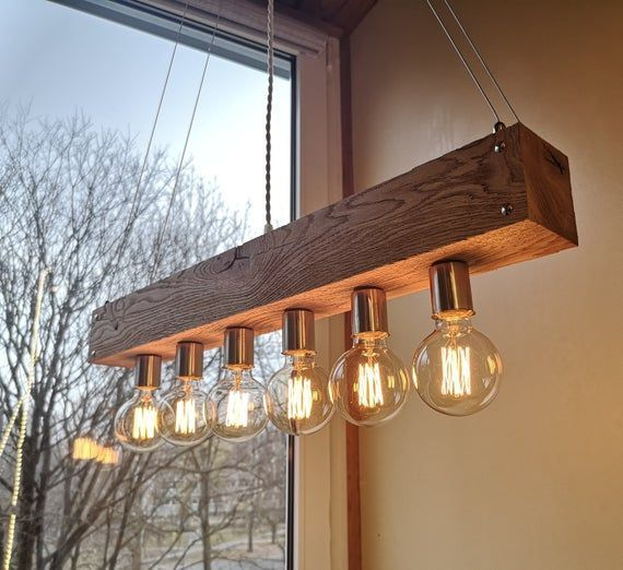 Handmade Beam Chandelier Modern Wood Beam Chandelier Wooden