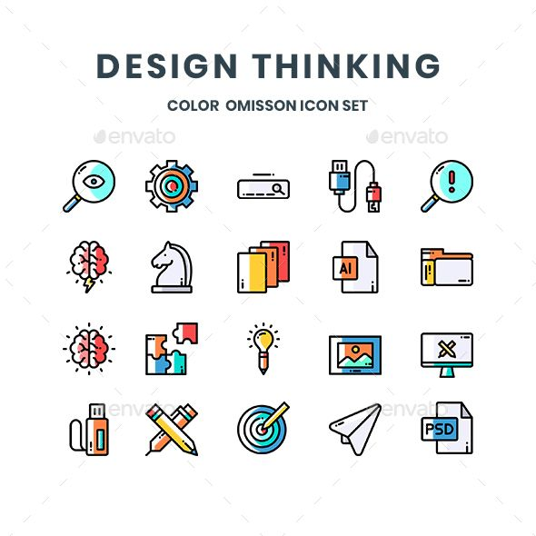 Design Thinking Icons Design Thinking Design