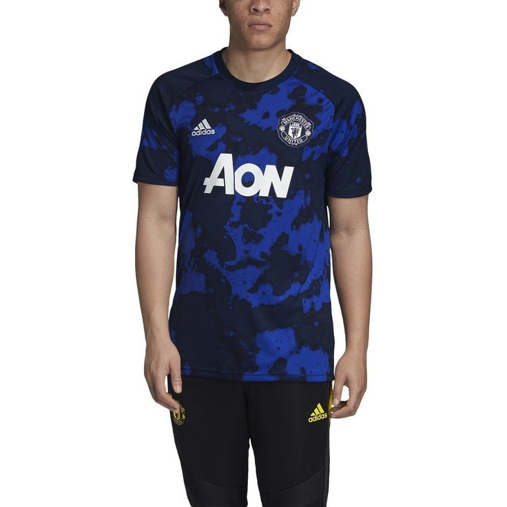 Adidas Men S Manchester United Prematch Jersey Dx9089 In 2020 Adidas Men Jersey Design Blue Adidas