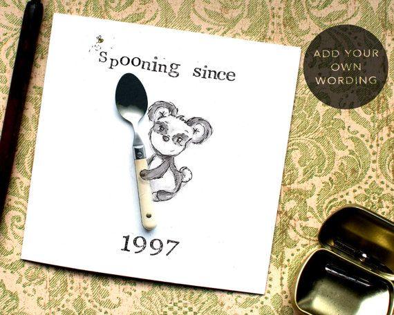 Funny Valentine Card Spooning Valentine Big Spoon by BEEcardsUK