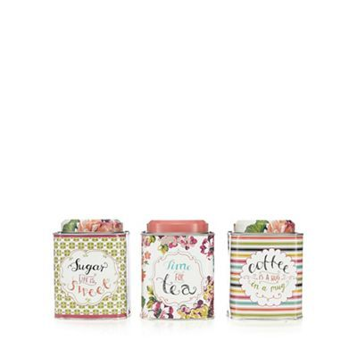 At home with Ashley Thomas Pack of three assorted tins- | Debenhams
