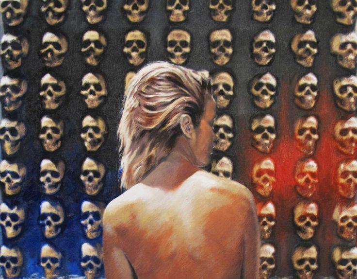 "Yordi Lara-Ochoa ""Ascension 1"" Oil on canvas 50 x 60 cm 2013"