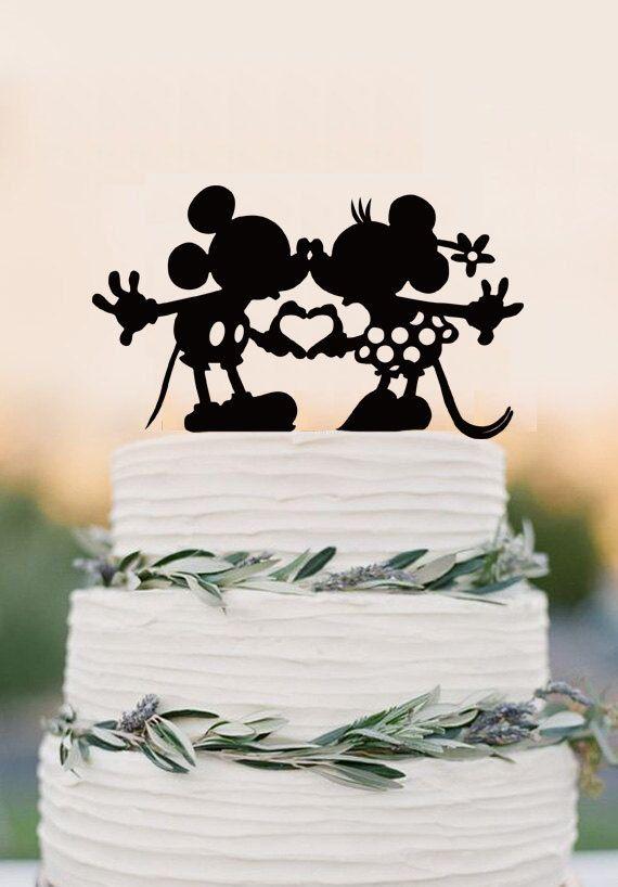 Disney wedding cake topper Custom Wedding Cake by balmaindesign