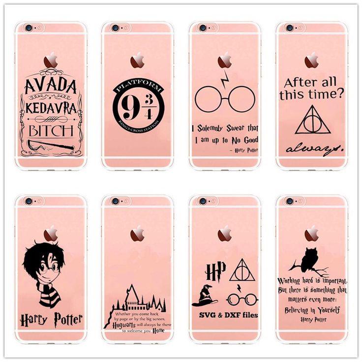 Avada Kedavra Harry Potter Case for SE 5 5S 6 6S 6S 7 Plus Clear Hard plastic Back Cover